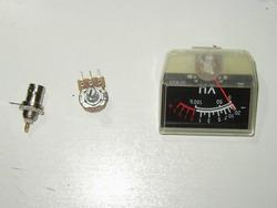 VUmetre, potansiyometre  ve BNC soket