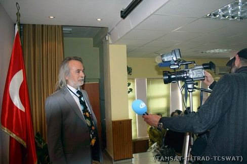 Sayın DERMAN ile İHA muhabirinin röportaj anı.