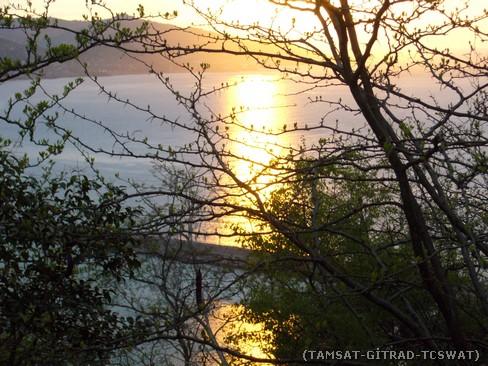 Giresun Kalesi'nde gün batımı.