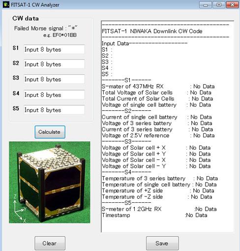 Resim-. FITSAT-1 CW Analyzer ekranı.
