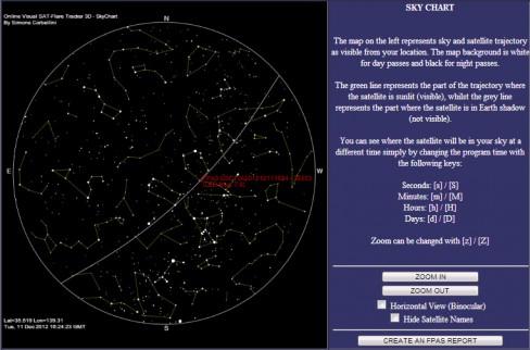 resim-. Sky Chart ekranı.