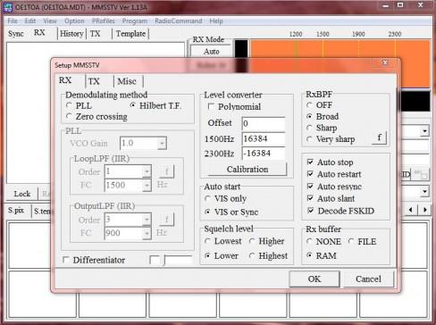Resim-3. RX dinlemede yapılan bu ayar otomatik olarak gelen resmi tarayacak ekrana tam sığdıracaktır