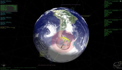 Resim-1 Uydu izleme ekranı. Detaylı görmek için resme tıklayarak tam ekran açınız. (Image credit © EXA)