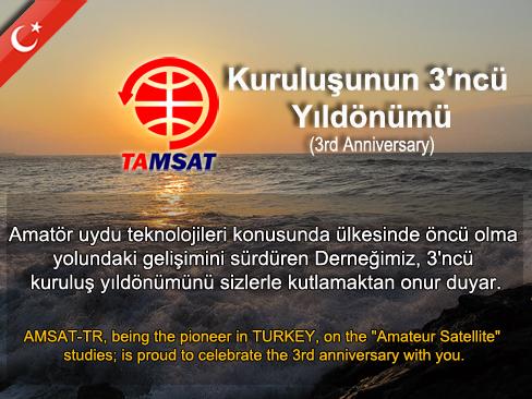 TAMSAT 3'ncü Kuruluş Yıldönümü