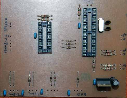 PCB'nin ön yüzü.
