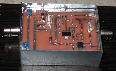 Resim-TAMSAT AR-GE çalışmaları sırasında geliştirilen ve 437MHz'de çalışan bir anten önyükselteci